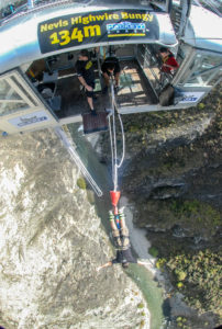 Steffen doing a bungee jump in NZ