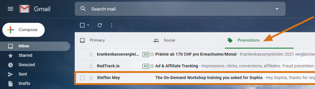 GMail Promotions Tab optimized new