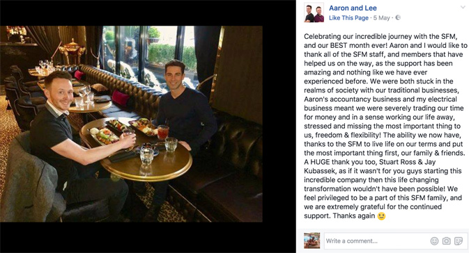 Testimonial Posts Aaron and Lee